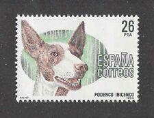Native Dog Breeds Art Head Portrait Postage Stamp Ibizan Hound Spain 1983 Mnh