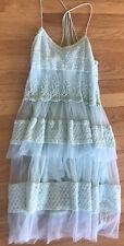 ASOS mint Romantic Tulle Eyelet lace dress Size 4