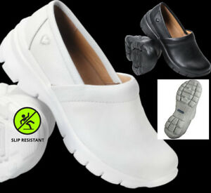 New Nurse Mates Libby PremiumLeather Medical Nursing Clogs Slip-On Doctor Shoes