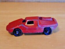 "vintage red  Tootsie Toy Die-cast  Fiat Abarth 2.5"" car vehicle metal wheels"