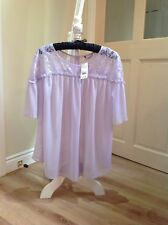 womens Sheer Lilac Blouse Size 18