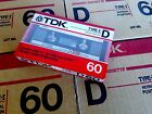 CASSETTE TAPE BLANK SEALED - 1x (one) TDK D 60 [1986] - made in Japan