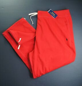 POLO RALPH LAUREN Men's Big & Tall Red Cotton Blend Fleece Drawstring Pants NWT