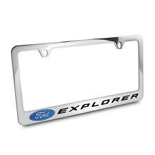 Ford Explorer Chrome Plated Metal License Plate Frame