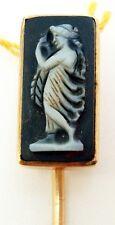 14K Rose Gold Hard Stone Genuine Natural Cameo Stick Pin (#2666)