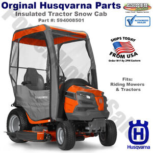Husqvarna Insulated Tractor Snow Cab with Zippered Doors / 594008501, 531307170