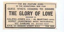 SALENA JONES / AL MARTINO / VIC DAMONE press clipping 1968 10X6cm (17/2/1968)