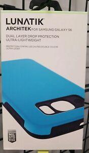 LUNATIK - ARCHITEK Case for Samsung Galaxy S6 Cell Phones - Light Blue - New