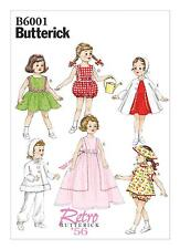 "Butterick SEWING PATTERN B6001 Retro 1950s Clothes For 18""/45cm Dolls"