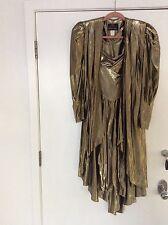 CLIMAX FOR DAVID HOWARD KAREN OKADA VINTAGE GOLD DRESS COAT SET NEW OLD STOCK