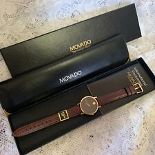 Vintage Movado Museum 87-45-882 Rare Gold Dial 30mm Gold Plated Watch