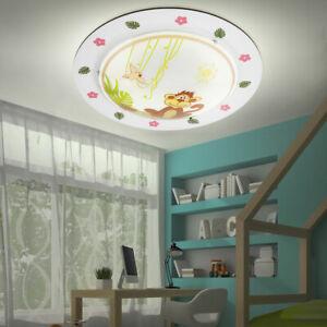 Decken Kinder-Baby-Spiel-Zimmer-Lampe Affe Vogel Tier-Figuren Glas Leuchte Rund
