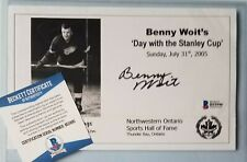 BENNY WOIT SIGNED BECKETT BAS COA AUTOGRAPHED NHL HOCKEY DETROIT RED WINGS AUTO