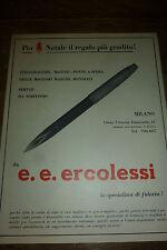 ADVERTISING PUBBLICITA' PENNE ERCOLESI PER NATALE IL REGALO PIU' GRADITO -- 1966