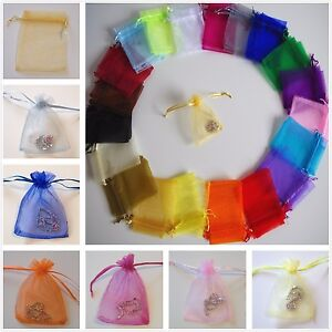 Luxury Organza Bags Pouch Gift Wedding Baby Shower Party  Jewellery Mesh Favours