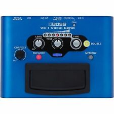 Boss Ve-1 Vocal Echo Effects Ambience Processor Vocalist Audio FX Pedal With USB