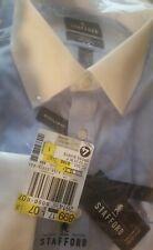 NEW Stafford MEN'S FRENCH CUFF Regular Fit Dress Shirt - Blue 17 32/33