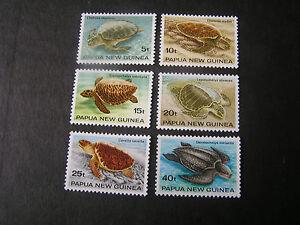 PAPUA NEW GUINEA, SCOTT # 592-597(6),1982 COMPLETE SET TURTLES ISSUE MNH