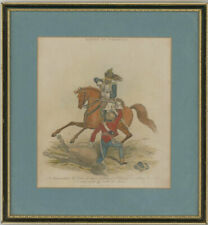 Set of 3 1816 Engravings - Battle of Waterloo Scenes