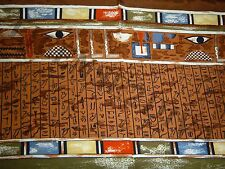 MUSEUM COMPANY BRAND EGYPTIAN HIEROGLYPHIC STYLE DESIGN SCARF MADE OF 100% SILK