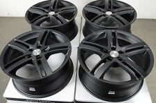 18 5x114.3 Matte Black Rims Fits Mazda 3 5 6 Es300 Es350 G35 G37 Alitma Wheels