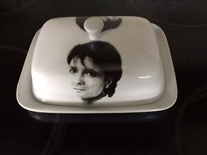 CLIFF RICHARD white ceramic BUTTER DISH
