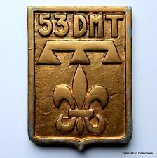 53 DMT divisione Militaire territoriale-vecchi francesi tampion PLACCA BADGE CREST