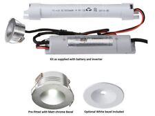 3 W LED Downlight Empotrado No Mantenida Emergencia Batería Blanca Plata Cromo