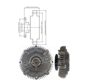 DAYCO FAN CLUTCH FOR Holden Calais Commodore, Nissan 280 ZX/ZXT 300 ZX Patrol