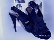 New Look Peep Toe Suede Shoes for Women