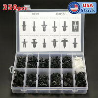 350Pcs Car Body Plastic Push Pin Rivet Fasteners Panel Trim Moulding Clip Tool