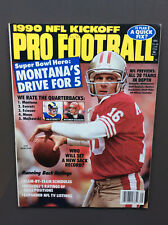 KICKOFF PRO FOOTBALL 1990 NFL Magazine Guide VG Condition Joe Montana Cover