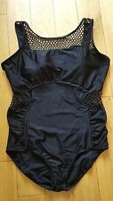 New Monif C Mesh Insert Swimsuit sz 20 uk in Black rrp £92 Plus Size SE09