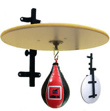 Madx Adjustable Red Real Leather Speed Ball Folding White Platform Set Boxing