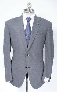 NWT RAFFAELE CARUSO Gray Wool Silk Cashmere 2Btn Sport Coat Jacket 42 7R (EU 52)