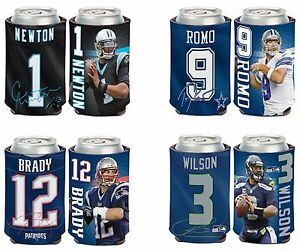 NFL Assorted Teams Players Wincraft 12 oz. Neoprene Can Cooler NEW!