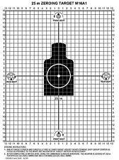 M16A1 25 Meter Zeroing Target On Ez Peel Notepad (White,25 Pack)
