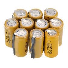 10pcs 2/3AA MISURA 1.2v 600mAh NI-CD batteria ricaricabile, Giallo