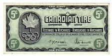 1976 5c CTC CANADIAN TIRE MONEY NOTE coupon gas bar 1976 Olympics KN0272931