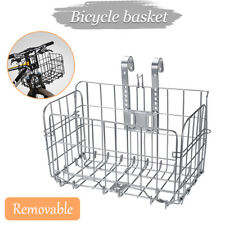 Foldable Quick Release Bike Basket Front Rear Wire Mesh Bracket Storage Baskets