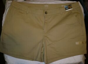 """a.n.a. Women's Twill Shorts Size 18 Gold Dust 6.5"""" Inseam  NEW"""
