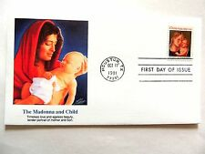 """October 17th, 1991 """"The Madonna and Child"""" Christmas 1991 First Day Issue #3"""