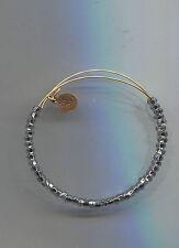 gray glass bracelet Alex & Ani gold