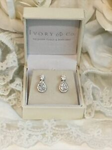 IVORY & Co🤍CRYSTAL LIMELIGHT BRIDAL/EVENING EARRINGS🤍Brand New