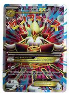 Alakazam 118/124 Gold Mega EX Card Pokemon Collection Plastic Card Free 2 EX