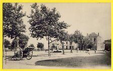 cpa St ANDRÉ d'APCHON Loire La Place TRACTEUR à Vapeur Café de l'Hotel de Ville
