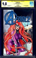 A-Force #1 BLANK CGC SS 9.8 signed PAINTED SKETCH Medusa Lockjaw by Levend Canga