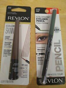 Revlon Eyeliner Lot New Colorstay Liquid Skinny Crayon Set Pencil jade mahogany