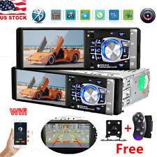 4'' Car Stereo FM Radio Bluetooth AUX Car MP5 MP3 Player Single 1DIN +Camera