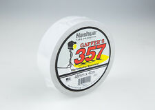 Nashua 357 Gaffer Tape White - 48mm x 40mtr.  Carton of 12 rolls.